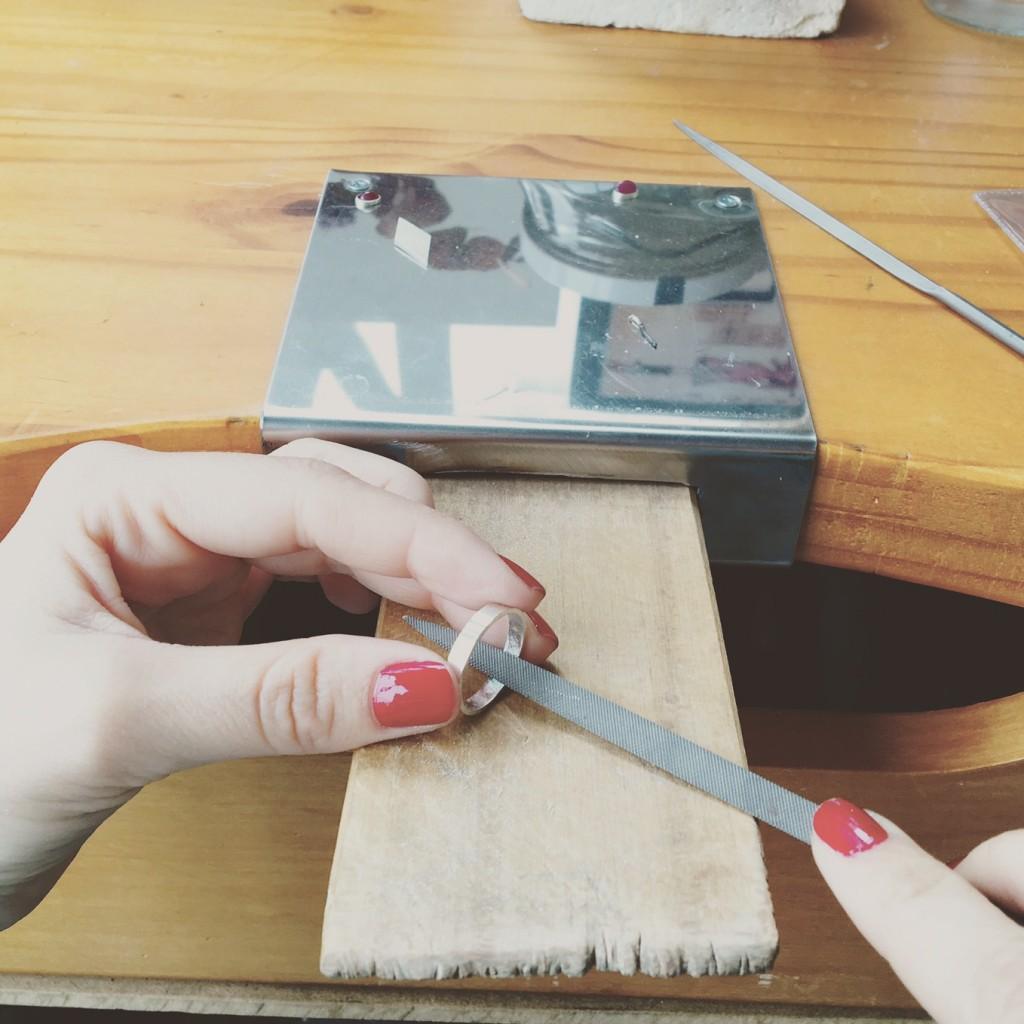 En el atelier eme empezando el trabajo