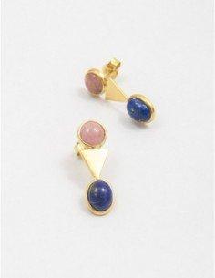 Pendientes triángulo pink&blue
