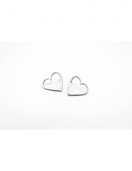 Pendientes silueta de corazón