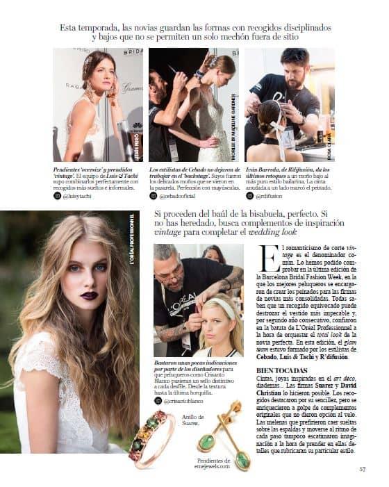 inserción publicación Vogue Cabello